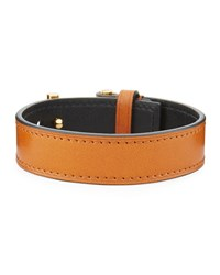 Tom Ford Leather T Buckle Bracelet Tan