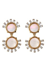 Asha Women's Tallulah Mother Of Pearl Drop Earrings Gold Mother Of Pearl