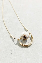 Urban Outfitters Great Minded Marble Necklace White