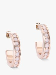 Ted Baker Seannia Swarovski Crystal Hoop Earrings Rose Gold Rose