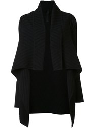 Gareth Pugh Jacquard Draped Cardi Coat Black