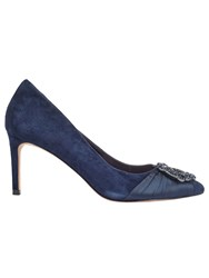 Phase Eight Georgie Crystal Court Shoes Navy