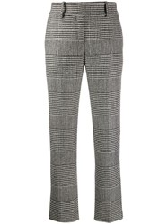 Ermanno Scervino Houndstooth Straight Leg Trousers Black
