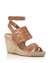Charles David Ona Ankle Strap Espadrille Wedge Sandals Cognac