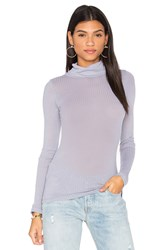 Stateside Rib Turtleneck Tee Gray