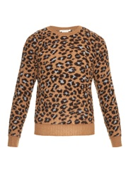 Marc Jacobs Leopard Cashmere And Wool Blend Sweater