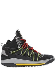 Dsquared Banff Nubuck And Nylon High Top Sneakers