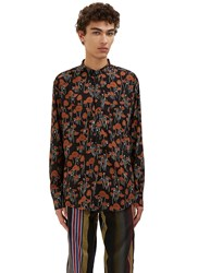 James Long Poppy Sleeved Shirt Black