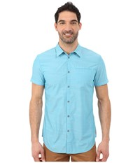 Calvin Klein Jeans Refined Slub Blue Dusk Men's Short Sleeve Button Up