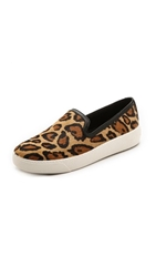 Sam Edelman Becker Slip On Sneakers New Nude Leopard Black