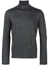 Pal Zileri Metallic Roll Neck Jumper Black