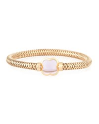 Roberto Coin Primavera 18K Rose Gold And Amethyst Flower Bangle Women's