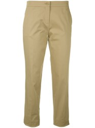 Etro Tailored Cropped Trousers Nude Neutrals