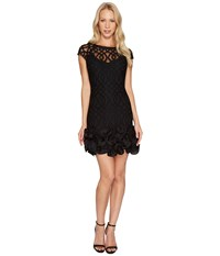 Jessica Simpson Ruffle Bottom Lattice Dress Black