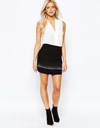 Oasis Studded Mini Skirt Black