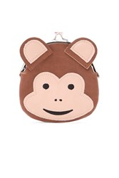 Forever 21 Monkey Coin Purse Brown Multi