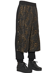 Astrid Andersen Paneled Cotton Jogging Trousers Black Gold