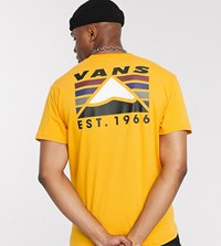 Vans Mountain T Shirt In Yellow Exclusive At Asos Copper