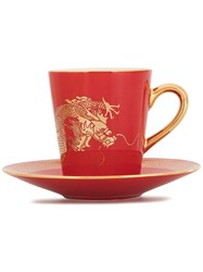 Shanghai Tang Dragon Espresso Cup And Saucer 60