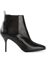 Pierre Hardy Round Toe Ankle Boots Black