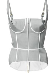 Thom Browne Fitted Bustier Top Grey