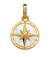 Links Of London Yellow Gold Compass Charm