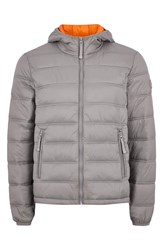 Topman Terrain Classic Fit Quilted Jacket Light Grey