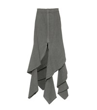 J.W.Anderson Floor Length Cotton Skirt Green