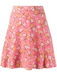 Polo Ralph Lauren Floral Print Mini Skirt Pink