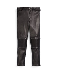 Gucci Quilted Napa Leather Leggings Black Size 8 12