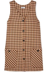 Paul And Joe Baydere Houndstooth Wool Mini Dress Brown