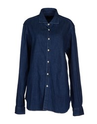Eleventy Denim Denim Shirts Women Dark Blue
