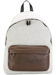 Givenchy Logo Embossed Backpack White