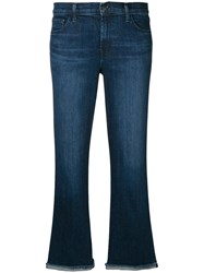 J Brand Flared Cropped Jeans Blue