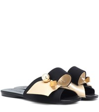Mercedes Castillo Keria Embellished Sandals Black
