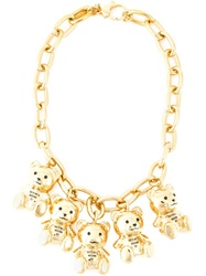 Moschino This Is Not A Moschino Toy Necklace Metallic