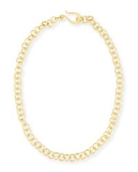Dina Mackney Adjustable 18K Gold Plated Chain Necklace 18
