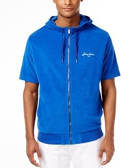Sean John Men's Limited Edition French Terry Short Sleeve Hoodie Surf The Web