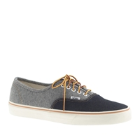 Vans For J.Crew Two Tone Denim Authentic Sneakers Denim Two Tone