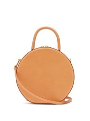 Mansur Gavriel Circle Leather Cross Body Bag Tan