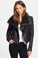 Veda 'Max Classic' Leather Jacket Black