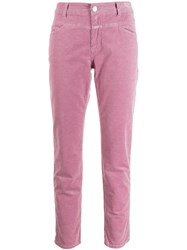 Closed Slim Fit Corduroy Trousers Pink