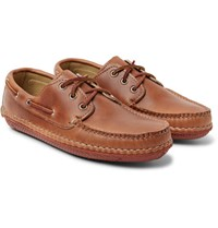 Quoddy Boat Moc Ii Leather Boat Shoes Tan