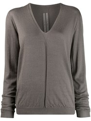 Rick Owens V Neck Jumper Grey