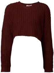 Organic By John Patrick Cropped Chunky Knit Sweater