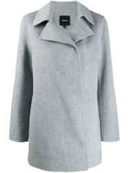 Theory Single Breasted Coat Grey