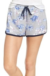 Kensie Women's Lounge Shorts Grey Heather Flower