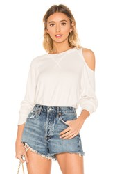 Lna Brushed Heart On My Sleeve Sweater Cream