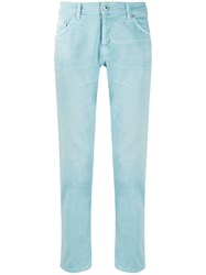 Dondup Low Rise Straight Leg Jeans Blue