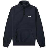 Olaf Hussein Zip Mock Sweat Blue